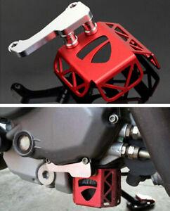 Red Oil Filter Protector Cover For Ducati MONSTER 659 MONSTER 696 MONSTER 796
