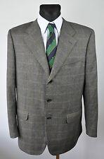 CORNELIANI Checked Plaid Tweed Blazer 100% Wool UK 42 Jacket EU 52 Coat Suit
