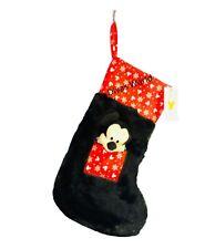 Disney Mickey Mouse Christmas Stocking 3D Socks Black Furry Hanging Gift Primark