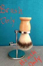 Wood Handle Synthetic Fiber Shaving Brush  NEW!