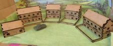 5 15mm Houses  Scenery Buildings MDF Laser cut Flames of war etc