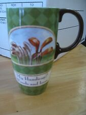 Cypress Home Latte Coffee Mug Golf Theme 'MY HANDICAP? Woods and Iron