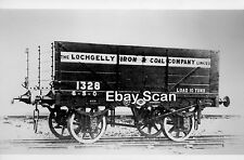 Railway Photograph Private Owner 5 Plank 10T Wagon №1328 Lochgelly Iron & Coal
