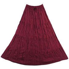 Bohemian Tier Long Skirt Boho Hippy Hippie Gypsy Red XS-XL sk167r