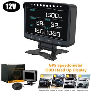 1×Car Universal Digital OBD HUD Head Up Display GPS Speedometer MPH/KM Projector