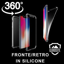 Custodia Cover 360° Fronte Retro per Iphone X Trasparente Silicone GEL
