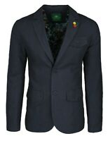 Giacca uomo in lino Classic nera elegante 2 bottoni blazer man's Jacket