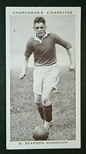 BIRMINGHAM CITY   Don Dearson   Original 1930's Vintage Football Card