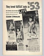 1954 PAPER AD 2 PG Eegee Dolls Susan Stroller 1953 1954 Goldberger Dolls