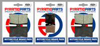 Front & Rear Brake Pads (3 Pairs) for Ducati 900 M, IL Monster 93-99