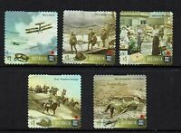 AUSTRALIA  2017...CENTENARY OF WWI.....P/S USED SET OF 5