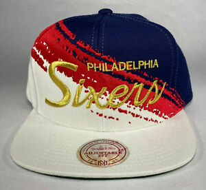 Mitchell and Ness NBA Philadelphia 76ers HWC USA Brushed Snapback Hat