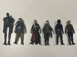 Star Wars - Rogue One, 3 x Jyn Erso, Casian Andor, Chirrut Imwe & K-2SO