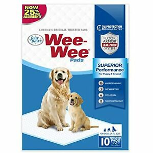 Four Paws Wee Wee Absorbent Pads for Dogs Standard 10 Count