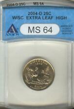 wis.extra leaf high  ms-64 Anacs