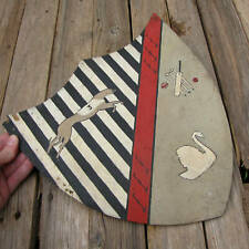 Vintage Shield with Greyhound Dog Racing / Swan and Cricket