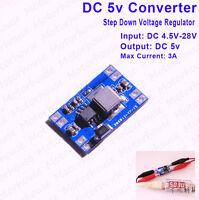 DC-DC Buck Step-down Converter 5V~28V 6V 9V 12V 24V to 5V 3A Power supply Module