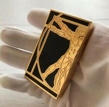 "DuPont Ligne 2 Style Memorial Lighter ""L. Da Vinci"" Limited Edition Top Quality"