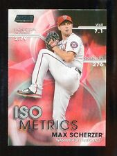 2016 Topps Baseball Stadium Club  ISO Metrics  #I-19  Max Scherzer