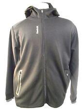 Reebok Sport Men's Track Running Workout Shirt Jacket Thumbholes Hooded Pockets
