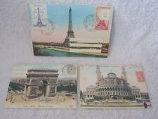 New Set Of 2 Paris Postcards & 1 Envelope by Cavallini & Co