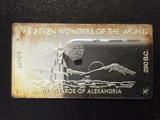 1971 Kennedy Mint The Pharos of Alexandria Silver Art Bar KEN-18VI P1673