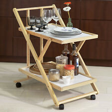 Sobuy pliable bois Service de Cuisine Hôtesse Chariot roulant sur