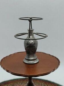 DOLLHOUSE MINIATURE ANTIQUE VINTAGE  GERMANY METAL TABLE LAMP TYNIETOY GERLACH