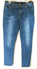 Lucky Brand Women's Brooke Skinny Jeans Medium Wash Distressed Tag Size 14/32