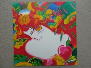 """Peter Max """"Flower Blossom Lady"""" Retro Suite 1997 Hand Signed, Numbered Serigraph"""