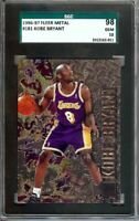 Kobe Bryant 1996-97 Fleer Metal RC Rookie Card SGC 98 10 Gem Mint Lakers #181
