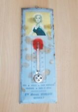 Ancien thermomètre glacoide pub- Ets Michel Vergote ROSULT France - PIN UP - 60s