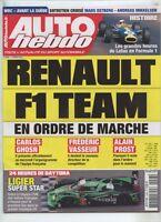 AUTO HEBDO n°2048 du 03/02/2016 : Renault F1 - 24h Daytona - Histoire Lotus F1