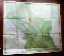 1901 Map of Proposed Nicaragua Canal Route Costa Rica Rainfall