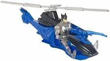"""Batman & Batcopter DC Comics Helicopter W/ 4 1/2"""" Action Figure Power Connects"""