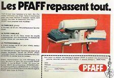 Publicité advertising 1976 La machine à repasser PFAFF