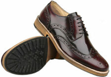100% Leather Round Craft Brogues Shoes for Men