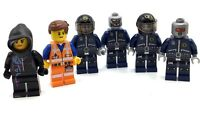 LEGO LOT OF 6 THE LEGO MOVIE CHARACTERS EMMET & WYLDSTYLE  ROBO COPS MINIFIGURES