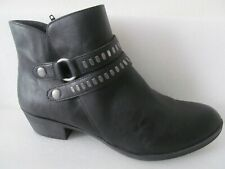 Women's A.N.A Addie Ankle Boots US Size 10 Black  Buckle Zipper