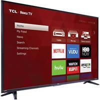 "TCL Roku 55"" Class 4K Ultra HD Smart LED TV 2160p 120Hz 55US57 4 HDMI"