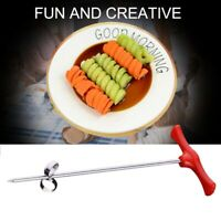 1X(New Creative Vegetable Fruit Spiral Twist Knife Stainless Steel Manual S E9S5