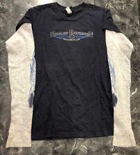 Vintage Long Sleeve T Shirt - Harley Davidson Motorcycle Navy Blue L St.Croix