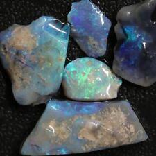 35.25 cts Australian Solid Black Opal Rough Parcel, Lightning Ridge Stones