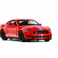 1:32 Ford Mustang Shelby GT350 Model Car Diecast Toy Collection Sound Light Red
