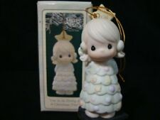 Precious Moments Ornaments Girl/Christmas Dress/Star-Limited Edition
