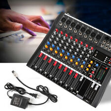 Audio Mixer Console Live Studio Dj Usb Bluetooth Stage Mixing Console 8-Channel
