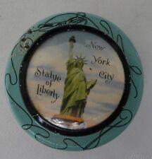 Vintage Souvenir GNCO Tin NEW YORK STATUE OF LIBERTY retro turquoise