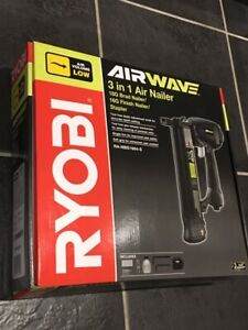 RYOBI AIRWAVE 3 in 1 Air Nailer RA-NBS1664-S  -  NEW IN SEALED BOX