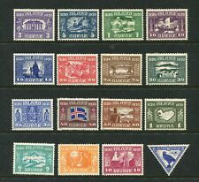 ICELAND 1939 1000 YEARS OF PARLIAMENT ALLTINGET SCOTT 152-166 + C3 PERFECT MNH