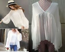 Chiffon Unbranded Hand-wash Only Solid Tops & Blouses for Women